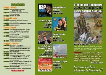 FESTA DEL CACCIATORE-pieghevole2013 - Caccia & dintorni