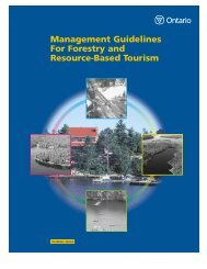 Management Guidelines For Forestry and Resource-Based Tourism