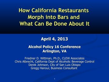 How California Restaurants Morph into Bars and What Can Be Done ...
