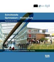 Schnittstelle Gymnasium – Hochschule - Bayern