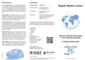 Digitale Medien nutzen: - ELAN