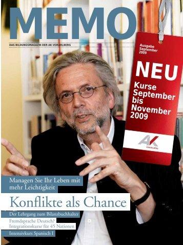 Konflikte als Chance - AK - Vorarlberg