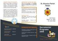 Sacramental Programs 2009 - Catholic Diocese of Ballarat