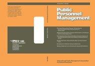Public Personnel Management Public Personnel ... - IPMA