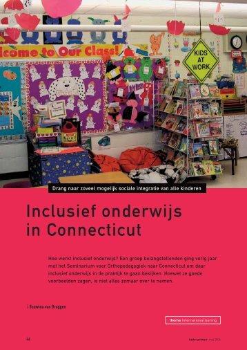 Inclusief onderwijs in Connecticut - Avs