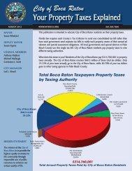 2012 Property Taxes Explained - City of Boca Raton