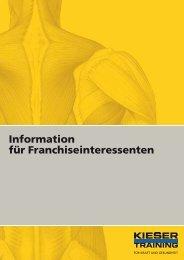 Information für Franchiseinteressenten - Kieser Training