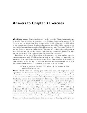 Answers to Chapter 3 Exercises - Luiscabral.net