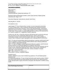 DISCHARGE SUMMARY FORMAT - American Geriatrics Society