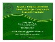 Spatial & Temporal Distribution Metrics for ... - Metron Aviation
