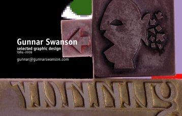 portfolio of my work [28 MB PDF here - Gunnar Swanson