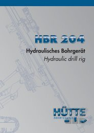 Hydraulisches Bohrgerät Hydraulic drill rig - CASAGRANDE GROUP