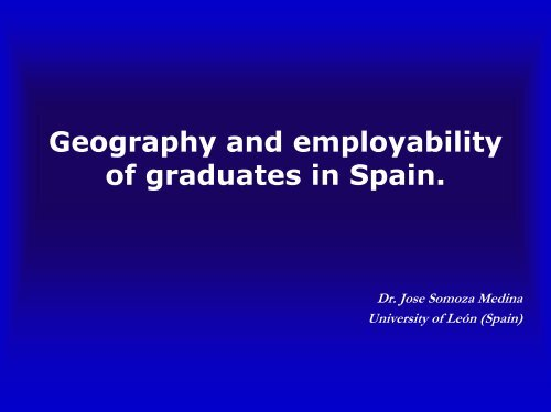 Geography and employability of graduates in Spain