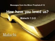 How have you loved us? - Graymere church of Christ