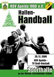 Saison 2009/2010 - HSV Apolda 1990 eV