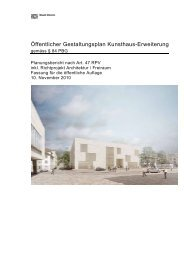Öffentlicher Gestaltungsplan Kunsthaus-Erweiterung - Stadt Zürich