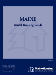 Rental Housing Guide - Maine State Housing Authority