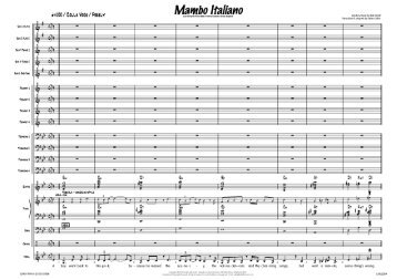 Mambo Italiano - published score sample - LLM2269 - Lush Life Music