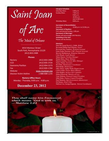December 23, 2012 - St. Joan of Arc Church