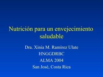 Nutrición para un envejecimiento saludable - Academia ...