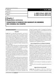 L. 5211-12 à L. 5211-15 R. 5211-3 à D. 5211-5-2 - Consulter en ligne