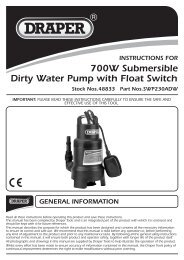 700W Submersible Dirty Water Pump with Float Switch