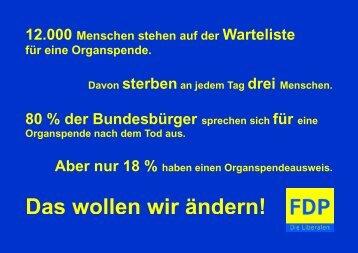 Organspende - FDP Solingen