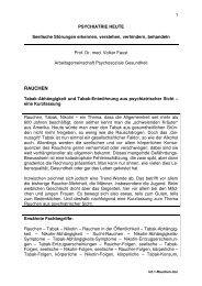 RAUCHEN - Arbeitsgemeinschaft Psychosoziale Gesundheit
