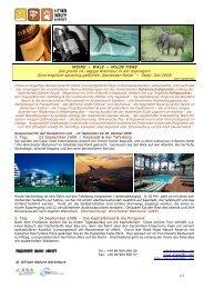 WEINE – WALE – WILDE TIERE Die große 14 tägige ... - ANA Safari