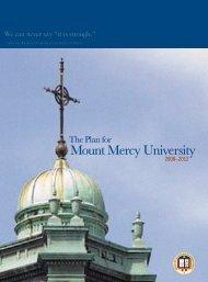 The Strategic Plan - Mount Mercy University