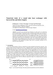 Numerical study of a round tube heat exchanger with louvered fins ...