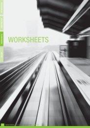 Worksheets - Moving Somerset Forward