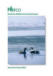 Nordiska Miljöfinansieringsbolaget Årsredovisning 2002 - Nefco
