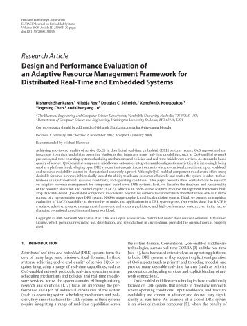 Design and Performance Evaluation of an Adaptive Resource ...