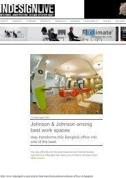 Johnson & Johnson among best work spaces - dwp