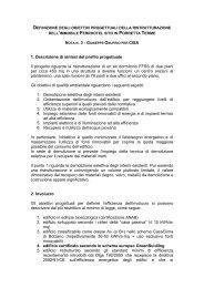 Definizione degli obiettivi progettuali della ... - Centro CISA