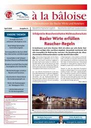 Basler Wirte erfüllen Raucher-Regeln - Wirteverband Basel-Stadt
