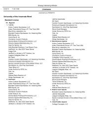 Licensed vendors - listed by product type - University of the ...