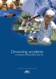 Drowning accidents in the garden involving children under five