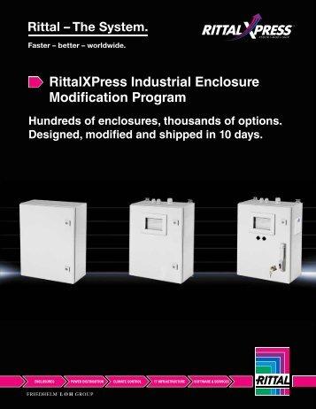 RittalXPress Industrial Enclosure Modification Program