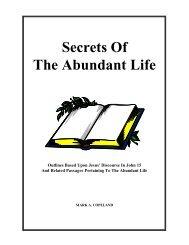 Secrets Of The Abundant Life - Executable Outlines