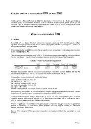 Výroční zpráva o hospodaření 2006