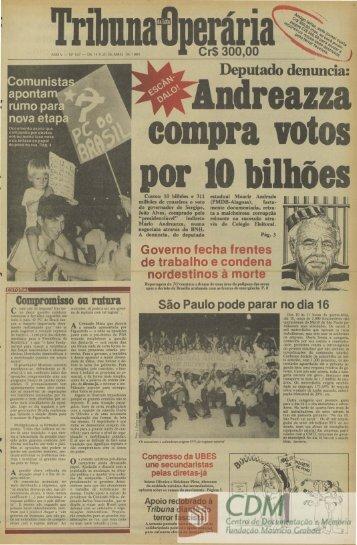 Deputado denuncia: - Fundação Maurício Grabois