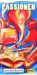 Programm 2013 - Korschenbroich liest