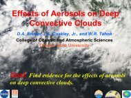 Response of Deep Convective Clouds to Increases in ... - ceres