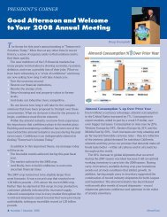 Good Afternoon and Welcome to Your 2008 Annual Meeting