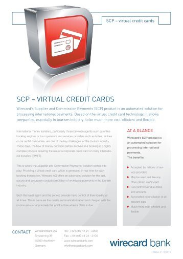SCP – VIRtUaL CREDIt CaRDS
