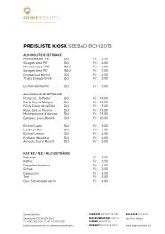 PREISLISTE KIOSK SEEBAD EICH 2013 - Balance Hotels