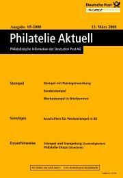 Ausgabe 05-2008 13. März 2008 - Deutsche Post - Philatelie