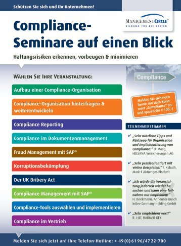 Compliance - Management Circle AG